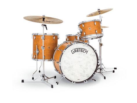 Gretsch Drums BK-RC424V-SCM Broadkaster Vintage 4-Piece Shell Pack, Satin Classic Maple Finish BK-RC424V-SCM