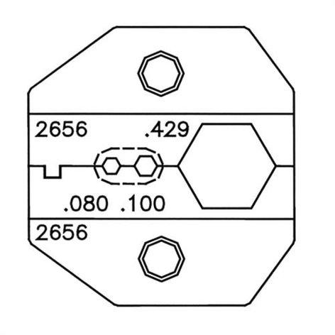 Paladin Tools PA2656  VDV Crimper RG8/RG11 N-TYPE Die Set PA2656