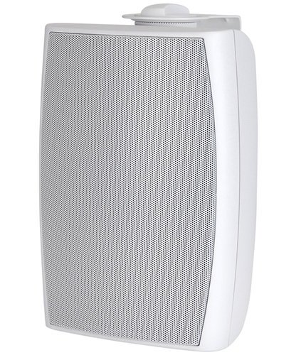 Quam FM4X1/70 10W/70V Indoor/Outdoor Two-Way Foreground Music Speaker in White FM4X1/70(WHITE)