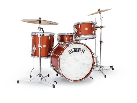 Gretsch Drums BK-R424V-SCP  Broadkaster Vintage 4-Piece Shell Pack, Satin Copper Finish BK-R424V-SCP