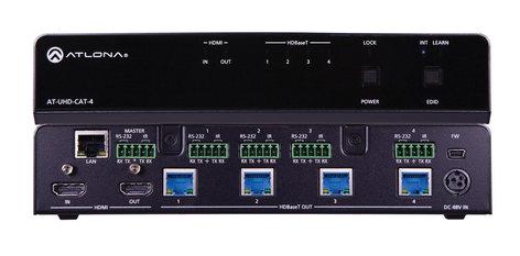 Atlona Technologies AT-UHD-CAT-4  4K/UHD 4-Output HDMI to HDBaseT Distribution Amplifier  AT-UHD-CAT-4