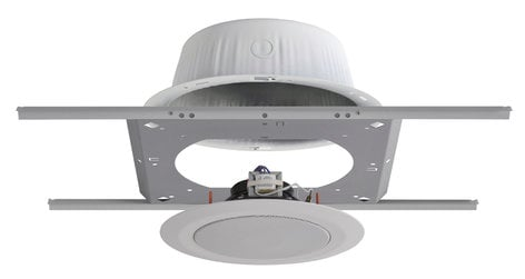 Quam SOLUTION 3 2x C10FX/BU/2WS Ceiling Speakers, 2x ERD8U Back Boxes, 2x SSB-6 Support Bridges, with QMount Brackets SOLUTION-3