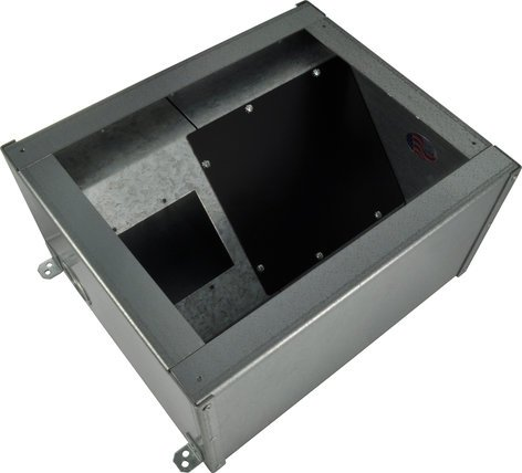 FSR, Inc FL-2000-2D  Floor Box with Bracket Punched for (2) AC Duplexes FL-2000-2D