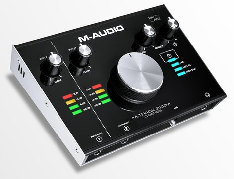 M-Audio M-TRACK-2X2M  Audio/MIDI Interface, 2-In/2-Out, USB  M-TRACK-2X2M