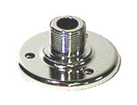 Atlas Sound AD-12B Surface Mount Male Microphone Flange with 5/8'-27 Thread in Chrome AD12B