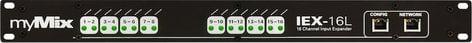 MyMix IEX-16L [RESTOCK ITEM] 1RU 16-Channel Analog Line-Level Input Expander Module IEX-16L-RST-01