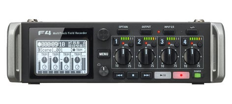 Zoom F4 4 Channel Portable Recorder, Broadcast/ENG F4-ZOOM