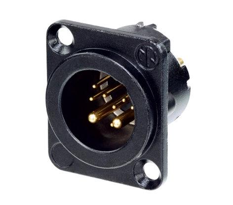 Neutrik NC10MD-LX-B 10-Pin D-Size Male XLR Panel Connector NC10MD-LX-B