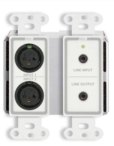 Radio Design Labs DDB-BN31  wall-Mounted Bi-Directional Mic/Line Dante Interface 4 x 4  DDB-BN31
