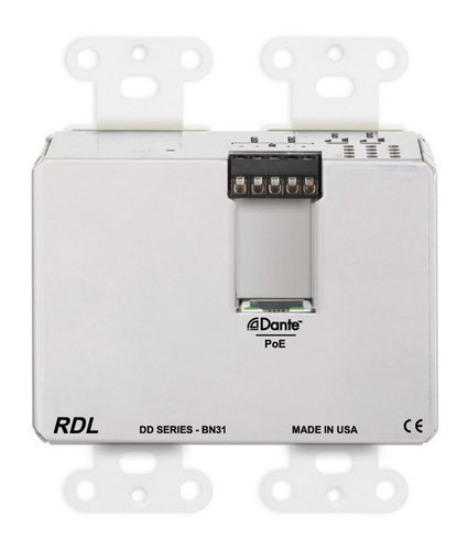 Radio Design Labs DDB-BN31  wall-Mounted Bi-Directional Mic/Line Dante Interface 4 x 4  DDB-BN31