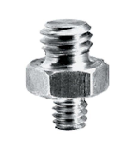 """Manfrotto Adapter Spigot 3/8''+1/4'' Short Adapter Spigot with 1/4"""" and 3/8"""" Screws 147-MANFROTTO"""