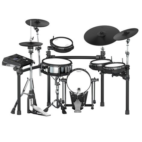 Roland V-Drums TD-50K-S 5-piece Electronic Drum Set With Mesh Heads, 4 X Cymbals, And TD-50 Sound Module