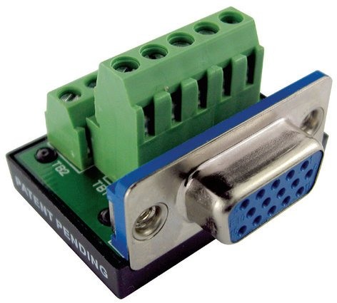 BTX Technologies CD-SLIM15F  HD15 Female to Terminal Block Connector CD-SLIM15F