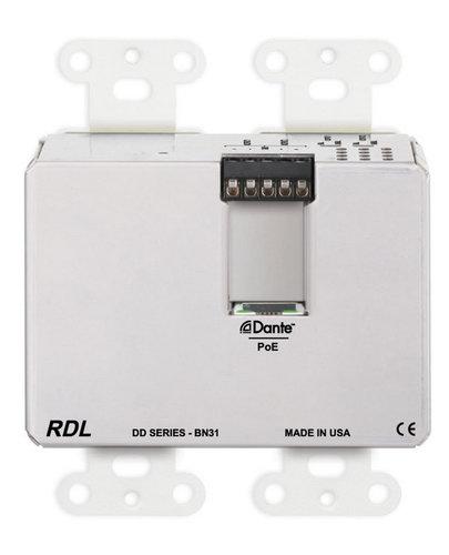 RDL DD-BN31  Wall-Mounted Bi-Directional Mic/Line Dante Interface 4 x 4  DD-BN31