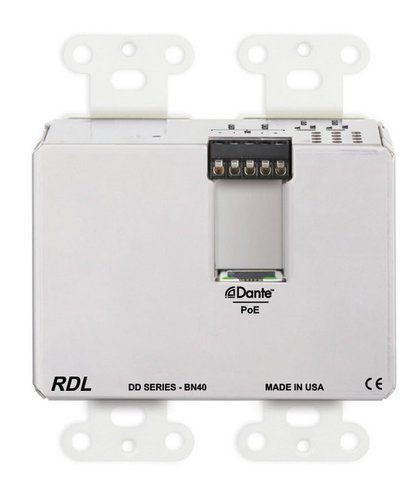 Radio Design Labs DD-BN40  Wall-Mounted Bi-Directional Mic/Line Dante Interface 4 x 2  DD-BN40