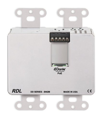 Radio Design Labs DDS-BN2M  Wall-Mounted Bi-Directional Mic/Line Dante Interface 2 x 2  DDS-BN2M