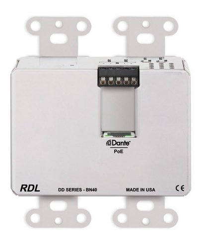Radio Design Labs DDS-BN40  Wall-Mounted Bi-Directional Mic/Line Dante Interface 4 x 2  DDS-BN40