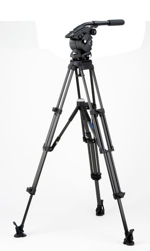 Vinten Vision 8AS System with Two-Stage CF Pozi-Loc Tripod, Ground Spreader, and Soft Case V8AS-CP2F