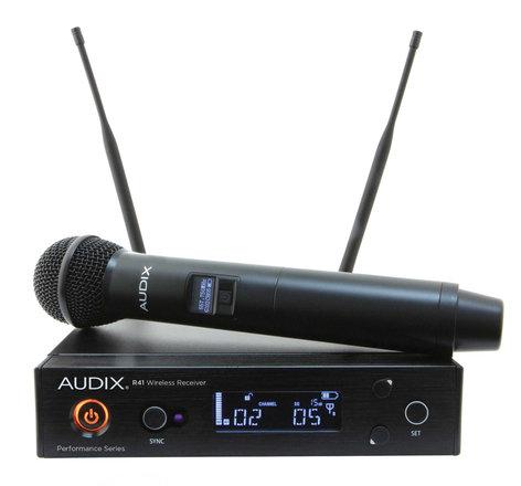 Audix AP41 OM2 R41 Diversity Receiver with H60/OM2 Handheld Transmitter AP41-OM2