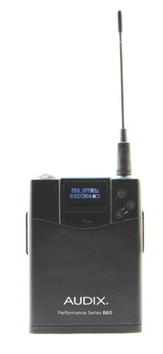 Audix AP41 OM2 L10 R41 Single-Channel Receiver with OM2 HH & B60 Bodypack Transmitters + ADX10 Lavalier Mic AP41-OM2-L10