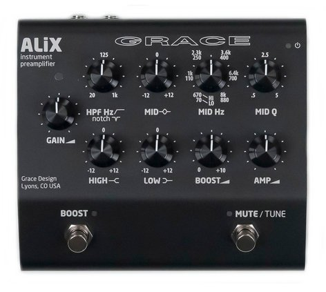 Grace Design ALiX Acoustic Instrument Preamp, DI / EQ / Boost Pedal ALIX