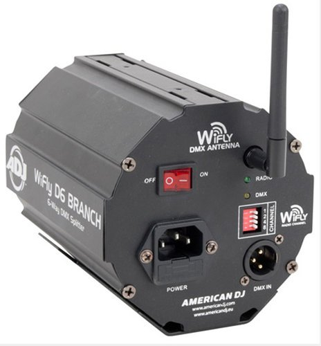 ADJ WiFLY D6 Branch 6-Way Wireless DMX Splitter/Amplifier with WiFLY Transceiver WIFLY-D6-BRANCH