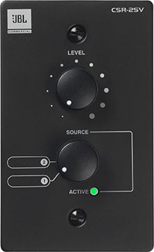 JBL CSR-2SV-BLK Volume/Source Wall Controller, black CSR-2SV-BLK