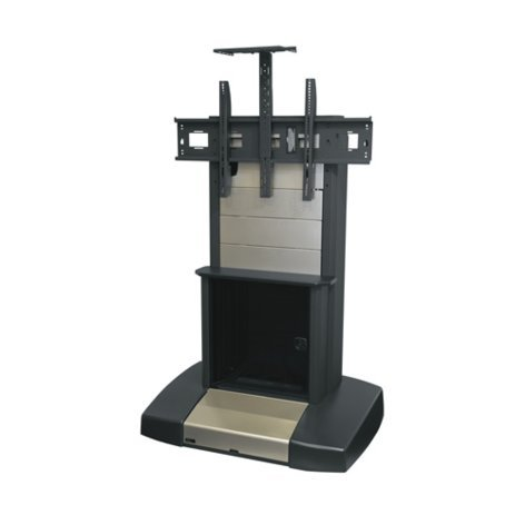 """Middle Atlantic Products VTC-4280S-R  Video Cart with 12RU Rack, for 42""""-80"""" Displays VTC-4280S-R"""