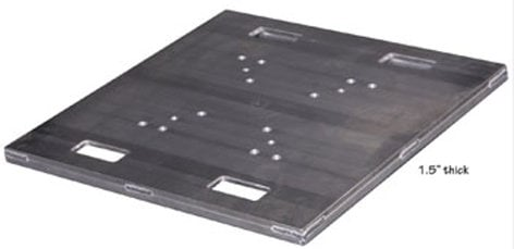 Show Solutions PB-H1200S 30 x 30 Heavy Duty Base Plate, Steel PB-H1200S