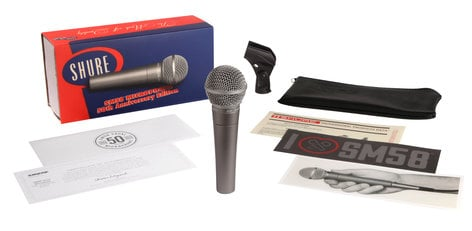 Shure SM58-50A 50TH Anniversary SM58 Dynamic Cardioid Vocal Microphone SM58-50A