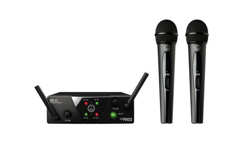 AKG WMS40 Mini Dual Vocal Set Dual Handheld Wireless Microphone System - AB Band MINI2VOC-US25AB