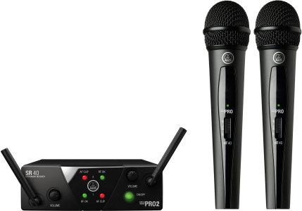 AKG MINI2VOC-US25CD Dual handheld wireless system - CD band MINI2VOC-US25CD