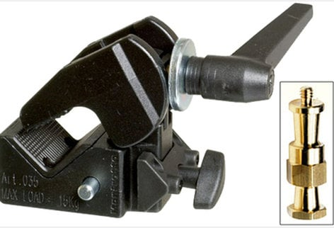 Manfrotto 035RL Super Clamp (with 2908 Standard Stud) 035RL