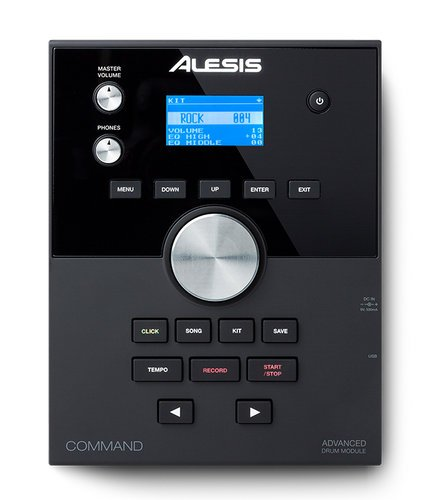 Alesis Command Kit Eight-Piece Electronic Drum Kit with Mesh Snare and Mesh Kick COMMAND-KIT