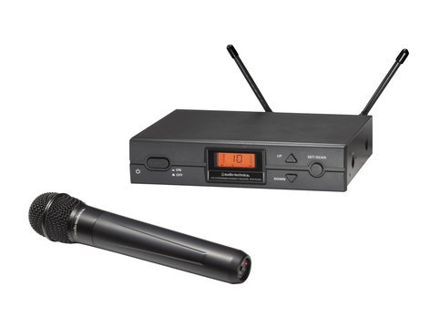 Audio-Technica ATW-2120b Wireless Handheld Cardioid Dynamic Microphone System, Frequency Band: I ATW-2120BI