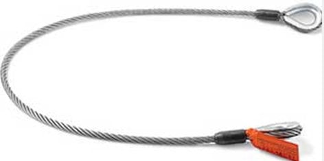 "Rose Brand Liftall™ Wire Rope Sling 10 ft. x 3/8"" WIREROPESLING-3/8X10"