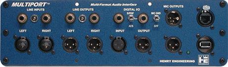 Henry Engineering MULTIPORT  Multi-Format Audio Interface Panel  MULTIPORT