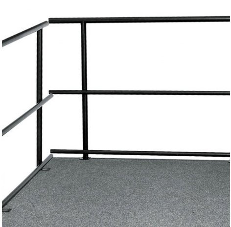 """National Public Seating GRS30 Guard Rails for Stages, 30""""W GRS30"""