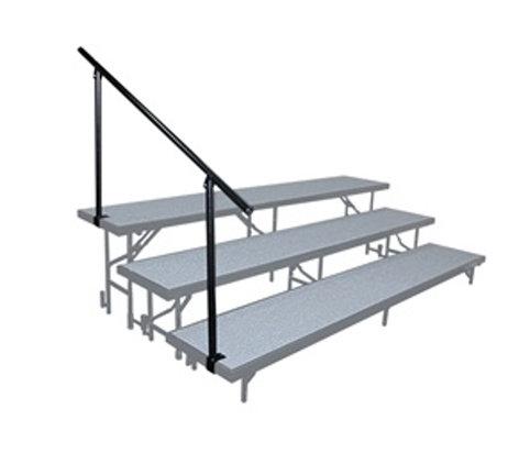 National Public Seating SGR3L Side Guard Rail for 3-Level Risers SGR3L