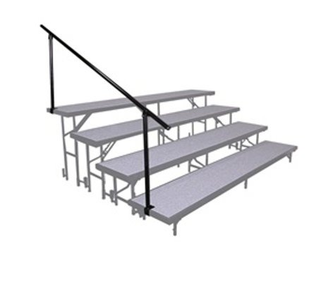 National Public Seating SGR4L Side Guard Rail for 4-Level Risers SGR4L