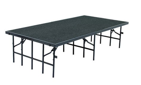 """National Public Seating S3616C Stage with Carpeted Surface, 36""""x96""""x16"""" S3616C"""
