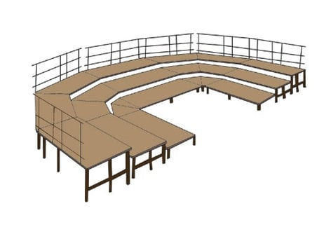 National Public Seating SBRC48C Stage Configuration SBRC48C