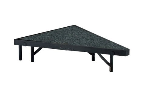 "National Public Seating SP368C Stage Pie, Carpeted, 36"" SP368C"