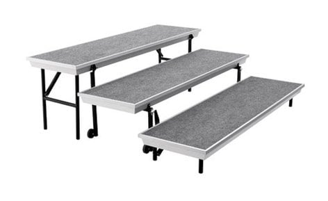 "National Public Seating TPR72 Riser, 3-Level Tapered, 18""x72""x22"" TPR72"