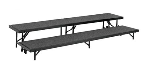 National Public Seating RT2LC Riser, 2 Level Tapered & Carpeted, Includes: RT8C, RT16C RT2LC