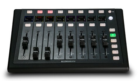 Allen & Heath IP-8 dLive Remot Controller with 8 Motorized Faders and 6 Band and 16 Soft Key IP-8