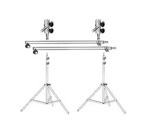 Lowel Light Mfg SP-93 Background Support, 2 KS stands, 2 Interlinks, 2 Full Poles SP-93
