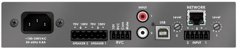 Stewart Audio DSP100-2-CV 2 Channel DSP-Enabled Amplifier, 2 x 100W @ 70V/100V DSP100-2-CV