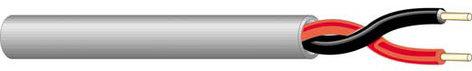 West Penn 25224B-1000-BLACK 2 Conductor 18 Gauge Plenum Wire, Black, 1000 ft 25224B-1000-BLACK