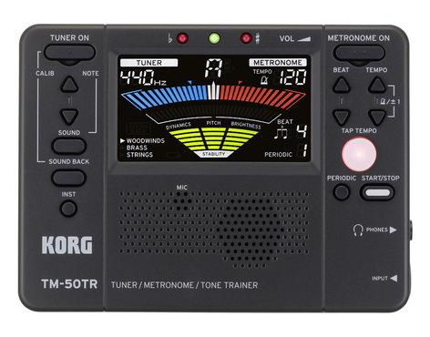 Korg TM-50TR Tuner / Metronome / Tone Trainer, Black TM50TRBK